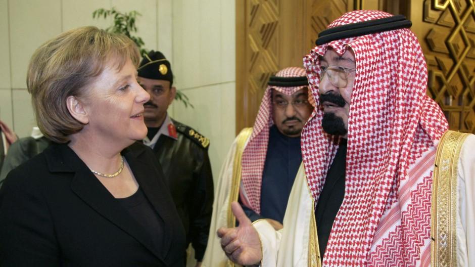 Merkel trifft Saudi-Arabiens KönigAbdullah