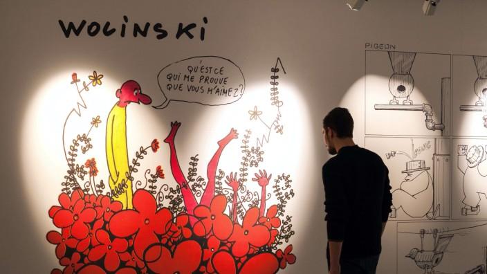 Auf dem Comic-Festival von Angoulême gab es die Möglichkeit, Abschied zu nehmen von den Zeichnern von Charlie Hebdo.