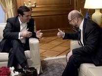 Martin Schulz trifft Alexis Tsipras