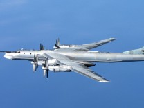 Russischer Bomber vom Typ Tu-95