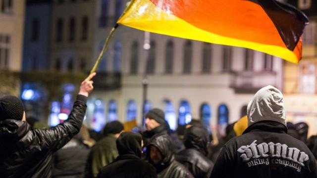 Demo der islamkritischen-Bewegung 'Mvgida' in Schwerin