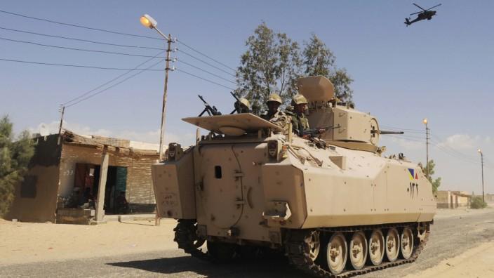 Ägyptische Armee im Nordsinai.