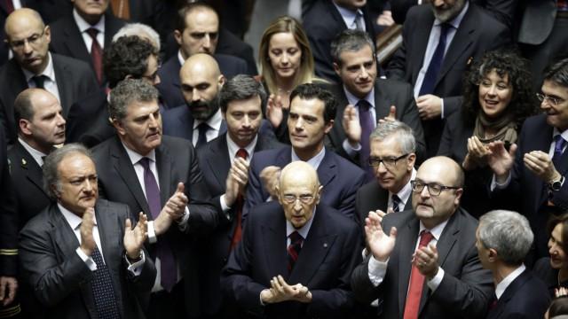 Italienische Politik Italiens Präsident Sergio Mattarella