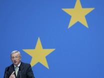 File photo of Juncker, former prime minister of Luxembourg, speaking during the Christian Democratic Union congress in Berlin