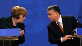 Angela Merkel und Viktor Orban in Budapest
