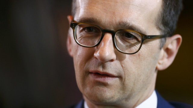 German Justice Minister Maas arrives for cabinet meeting in Berlin