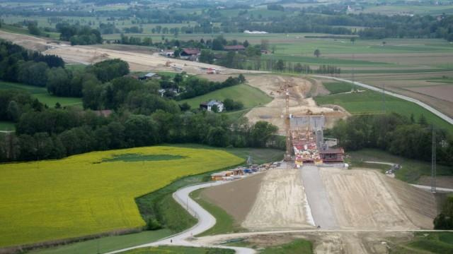 A 94 Baustelle bei Lindum
