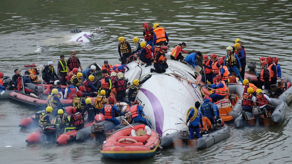 Notfälle Abgestürztes Flugzeug in Taipeh