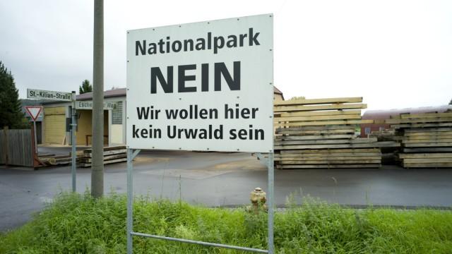 Protest gegen Nationalpark im Steigerwald, 2014