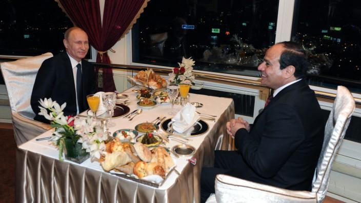 Russian President Vladimir Putin visits Egypt