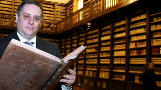 Italy, Naples: Arrested Massimo Marino de Caro, former director of Naples' historic Girolamini library
