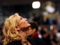 Actress Blanchett arrives for the screening of the movie 'Cinderella' at the 65th Berlinale International Film Festival in Berlin
