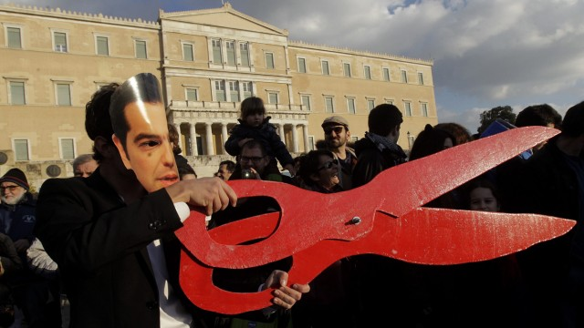 Protest in solidarity with the Greek government