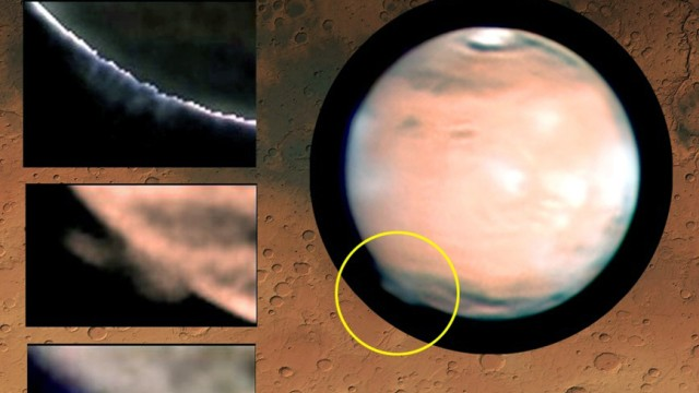 Wolken auf dem Mars