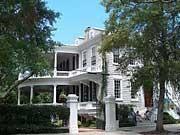 Herrenhaus in der Battery Street in Charleston, usareise