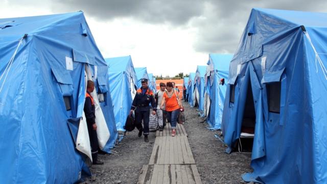 Flüchtlingslager in Russland