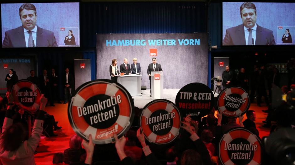 Wahlkampfendspurt der SPD in Hamburg