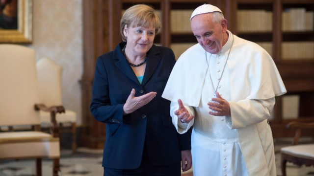 Pope Francis Meets With Chancellor of Germany  Angela Merkel