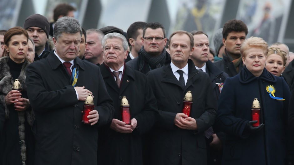 Ukraine Commemorates First Anniversary Of Maidan Killings And Yanukovich Ouster