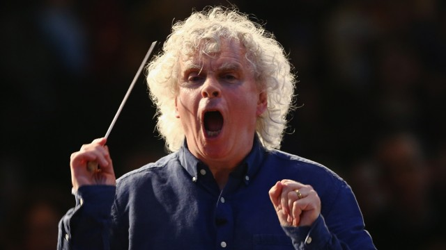 Simon Rattle bei einem Konzert in London im Februar 2015.