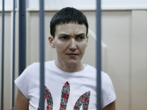 Ukrainian Nadezhda Savchenko on trial