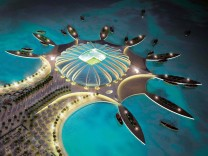 Katar: Simulation eines Fußballstadions zur WM 2022