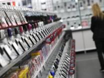Woman walks in the European state-of-the-art store of German electronics retailer Media-Saturn in Ingolstadt