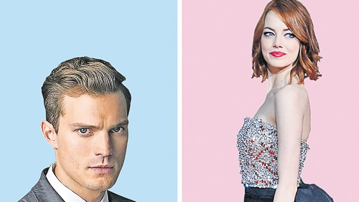 Frisuren Von Emma Stone Und Jamie Dornan Stil Szde