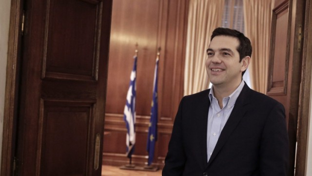 Greek Prime Minister Alexis Tsipras meets German Member of the Eu