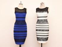 Kleid schwarz blau suddeutsche