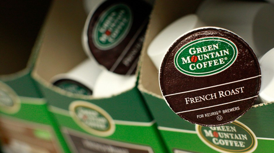 Green Mountain Coffee single-serve K-Cups are pictured in New York
