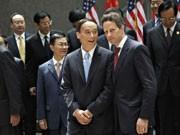 Timothy Geithner, Wang Qishan, Foto: AP