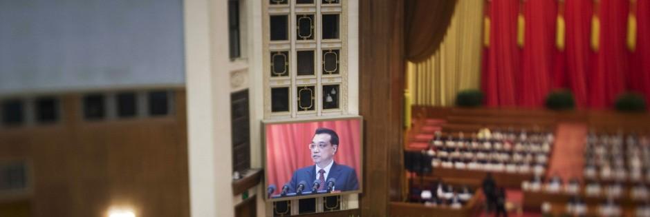 Li Keqiang Plenarsitzung des Volkskongresses