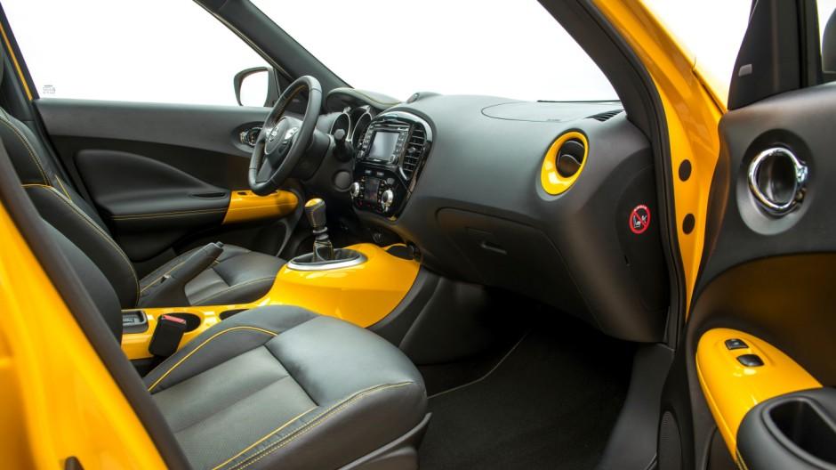 Der Innenraum des Nissan Juke.