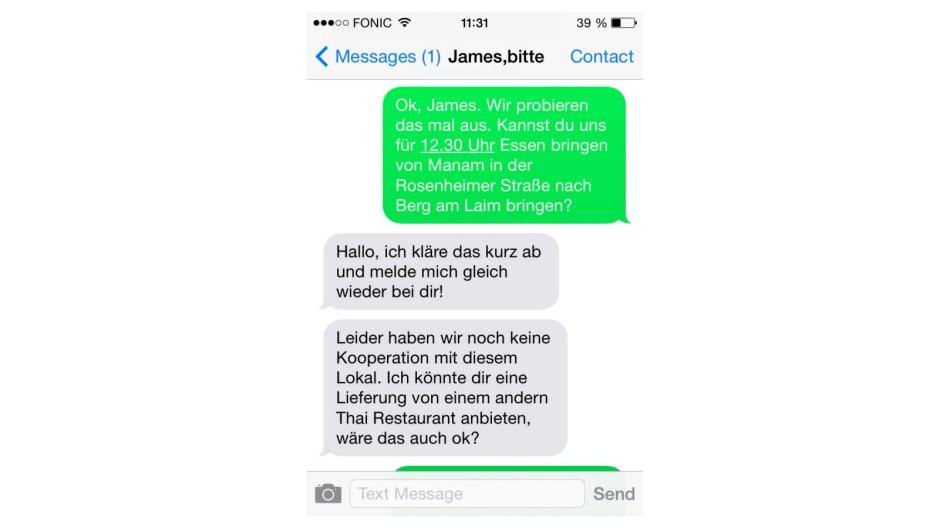 James, bitte Münchner Start-up