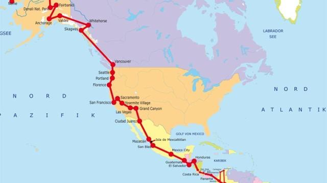 Amerika, der Länge nach (XXVIII)