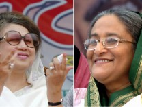 Sheikh Hasina und Khaleda Zia