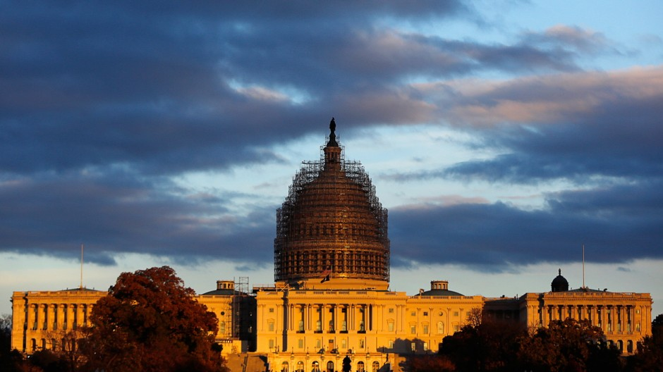 US Capitol is seen at sunset in Washington