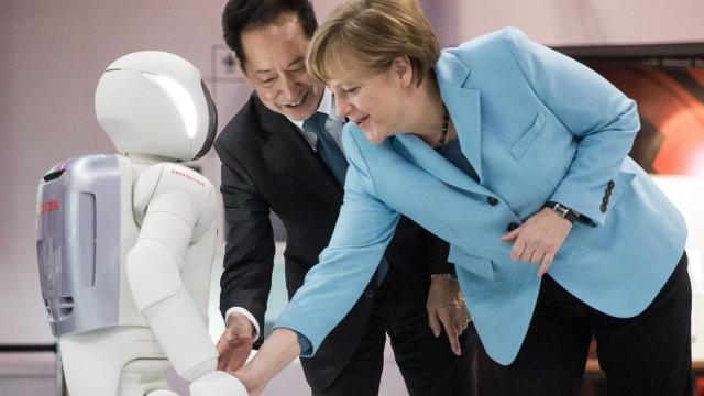 Bundeskanzlerin Angela Merkel (CDU) auf Japan-Reise