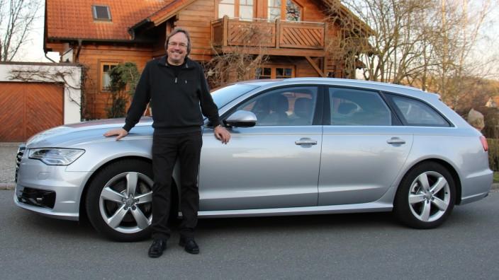 Reijo Ranki mit dem Audi A6 Avant 3.0 TDI Quattro.