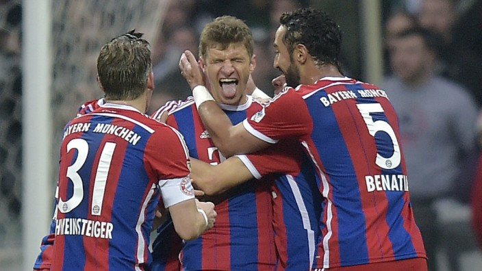 FC Bayern Werder Bremen Thomas Müller