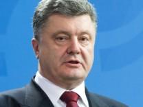 Ukraines Präsident Petro Poroschenko in Berlin