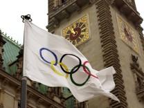 Olympische Flagge in Hamburg