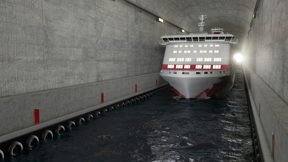 Der Stad Ship Tunnel in Norwegen
