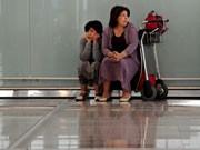 Festsitzen am Flughafen Europa Vulkan Ausbruch Asche Wolke, Getty