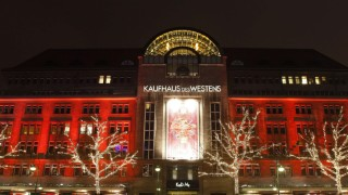 The KaDeWe department store is illuminated with Christmas decorations in Berlin