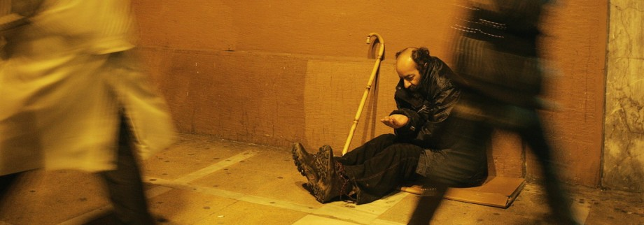 Poverty in central Athens