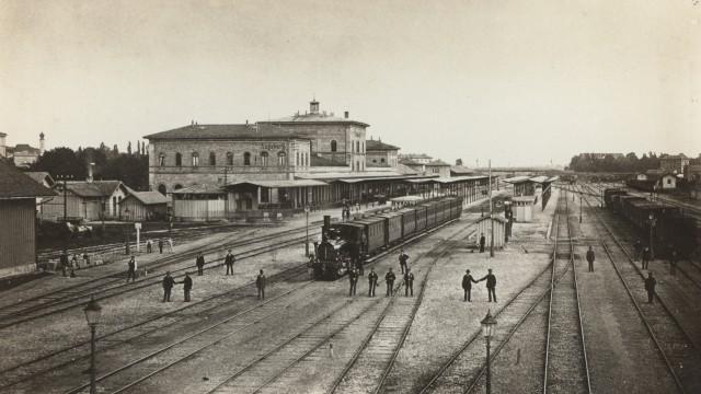 Eisenbahn Verbindung München-Augsburg