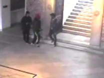 gunmen walking through the Bardo museum