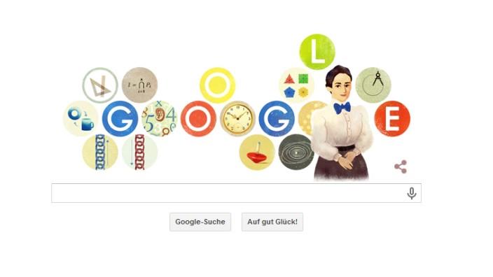 Google Doodle zu Emmy Noether